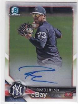 Russell Wilson 2018 Bowman Chrome Auto Autograph #bcpa-rw Yankees