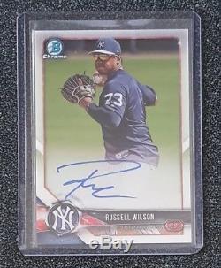Russell Wilson 2018 Bowman Chrome Prospect Auto #bcpa-rw Yankees