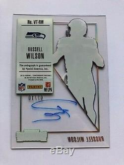 Russell Wilson 2018 Contenders Veteran Ticket Clear Acetate Auto #2/10 Autograph