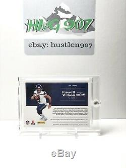Russell Wilson 2018 Encased 1/1 Player Worn NFL Shield True One Of One Non Auto