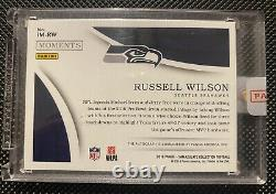 Russell Wilson 2018 IMMACULATE MOMENTS On Card Acetate Auto 10/10 Pro Bowl MVP