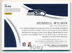 Russell Wilson 2018 Immaculate Collection Moments Autograph Seahawks Auto #03/10
