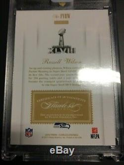 Russell Wilson 2018 Panini Honors Buy Back Flawless Autograph Seahawks Auto 1/1
