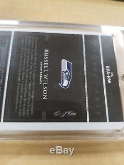 Russell Wilson 2018 Panini Impeccable Patch Auto Printing Plate #1/1 Seahawks