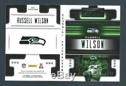 Russell Wilson 2018 Playbook Jersey Patch Auto Green SP #d 1/10 SEATTLE SEAHAWKS