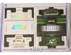 Russell Wilson 2018 Playbook Material Autograph Auto Printing Plate 3 Patch 1/1