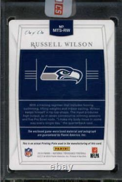 Russell Wilson 2019 National Treasures Printing Plate Patch Auto #1/1 Fc4930