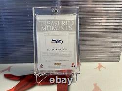 Russell Wilson 2019 Panini National Treasures Treasured Moments Gold Auto 4/10