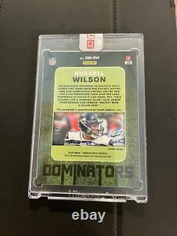 Russell Wilson 2020 Donruss Optic Dominators Auto # /10 Seattle Seahawks Ssp NFL
