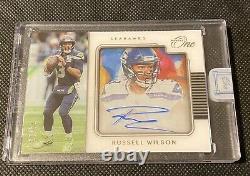Russell Wilson 2020 Panini One Auto Rare Autograph 4/10 Seahawks