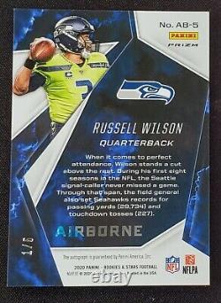 Russell Wilson 2020 Rookies And Stars Auto 1/5 Prizm SSP eBay 1/1 SEAHAWK