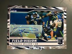 Russell Wilson 2021 Elite Field Vision Auto Autograph #10/10 Seattle Seahawks