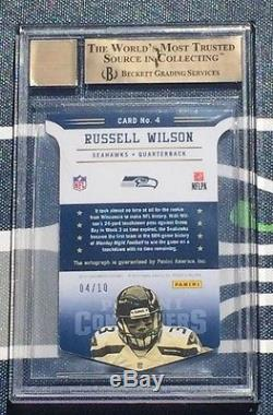 Russell Wilson #4/10 ROY Contenders 2012 ROOKIE AUTO BGS 9.5 10 Autograph RARE