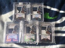 Russell Wilson 5 ROOKIE Card AUTO lot All 3 Color Patches 2012 Crown Royale #280
