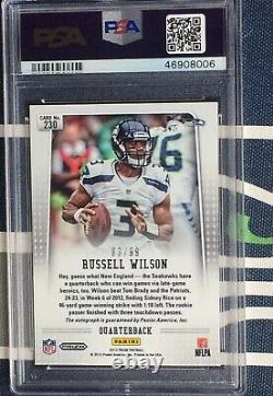 Russell Wilson #/99 2012 Prizm Auto RC Rookie Card SILVER REFRACTOR PSA 9 MINT