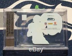 Russell Wilson AUTO 2012 Elite Hard Hats #/99 BGS 10 10 Autograph Card Wow
