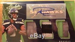 Russell Wilson Absolute Triple Patch Auto 3/10 Jersey Number