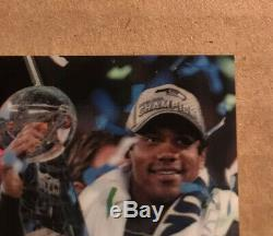 Russell Wilson Auto 2/2 2018 Spectra Super Bowl Champs Seattle Seahawks