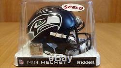 Russell Wilson Auto Autograph Signed Riddell Mini Helmet Seattle Seahawks