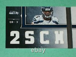 Russell Wilson Auto Jersey Rookie Card RPA /99 2012 Playbook Seattle Seahawks