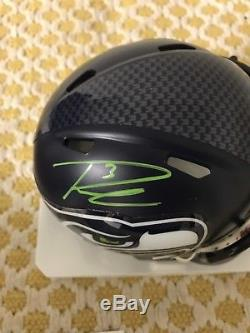 Russell Wilson Auto Mini Helmet With COA
