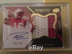 Russell Wilson Auto RC Rookie Exquisite 082/150 Seattle Seahawks
