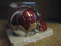 Russell Wilson Autographed Auto Badgers Chrome Mini Helmet Seattle Seahawks Rare