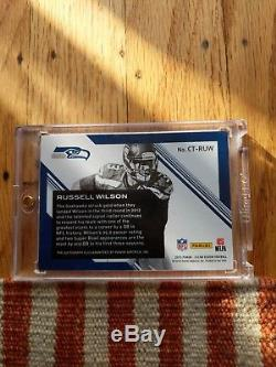 Russell Wilson CT-RUW 2015 Panini Clear Vision C-Thru Autograph Auto 10/25