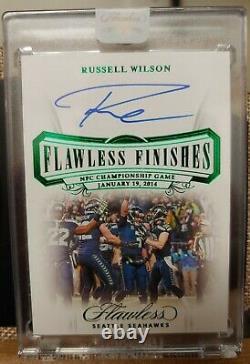 Russell Wilson Flawless Finishes Auto #/2 Seattle Seahawks Football QB FF-RWI