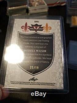 Russell Wilson Leaf Valiant Auto LOT