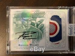 Russell Wilson Patch Auto /5 Topps Dynasty 2015 Auto