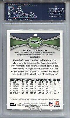 Russell Wilson Psa 10 2012 Topps Chrome Rookie Auto Autograph Seahawks Read