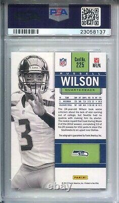 Russell Wilson Psa 9 2012 Panini Contenders #225 Rookie Ticket White Jersey Auto