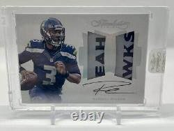 Russell Wilson Rare Game Used 2016 Flawless Dual Patch Auto 1/1