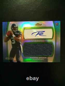 Russell Wilson Rookie #/100 2012 Topps Finest Autograph RC RPA Auto Seahawks