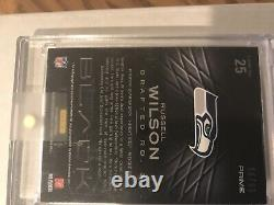 Russell Wilson Rookie Auto Patch Card 2012 Panini Black 98/99