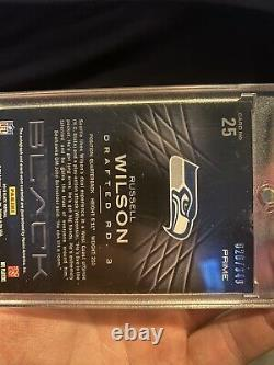 Russell Wilson Rookie Card Auto 2012 Panini Black /349