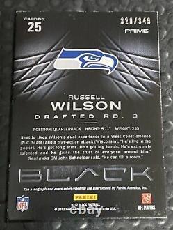 Russell Wilson Rookie Card Auto 2012 Panini Black /349 RPA