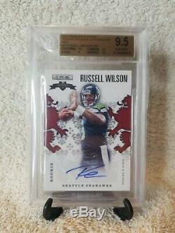 Russell Wilson Rookie Card Auto BGS 9.5