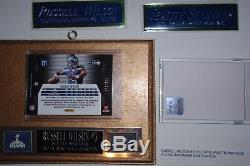 Russell Wilson Rookie LOT Auto Patch Relic Jersey #'d 7 ROOKIES 1/1 SEAHAWKS