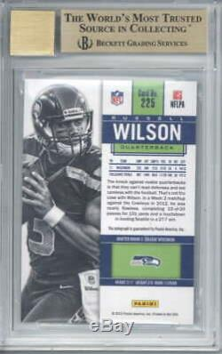 Russell Wilson Signed Auto 2012 Panini Contenders Rookie /550 #225A BGS 9.5