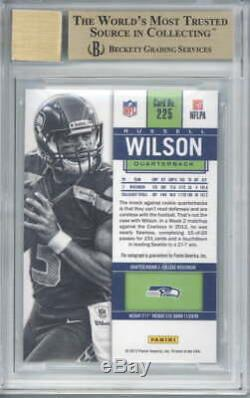 Russell Wilson Signed Auto 2012 Panini Contenders Rookie /550 #225A BGS 9.5 10