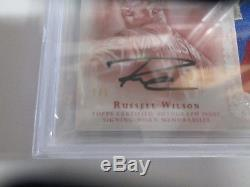 Russell Wilson TRUE 1/1 2015 Topps Dynasty 4 Color Patch Auto BGS 9.5 Auto 10