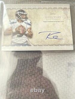 Russell Wilson Topps Five Star 2-Color Rookie Patch Auto RPA #20/42 BGS 8.5
