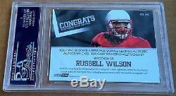 Russell Wilson rookie Press Pass Auto Bronze PSA 10 Bible Inscription Matt 633