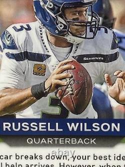 Russell Wilson true One of One 1/1 PSA Mint 9 Green Panini Prizm Auto #294 Pop 1