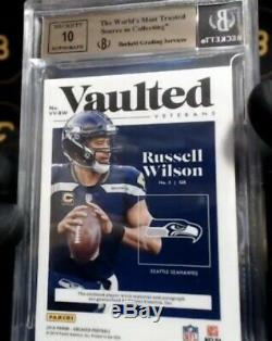 Russell Wilson2018 ENCASED JERSEY PATCH AUTO BGS 9.5/10 Auto #3/5 SEAHAWKS
