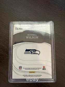 Russell wilson immaculate auto Eye Black 05/10