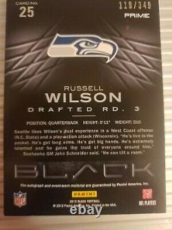 Russell wilson rookie auto patch numbered
