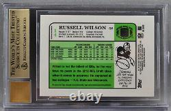 Topps Chrome Russell Wilson RC ROOKIE REFRACTOR AUTO #3/15 2012 BGS 9.5 GEM MINT